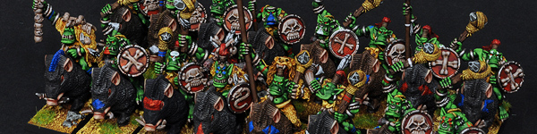 Savage Orc Boar Boyz with Savage Orc Shaman