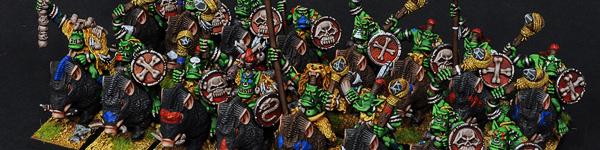 Savage Orc Boar Boyz with Savage Orc Shaman