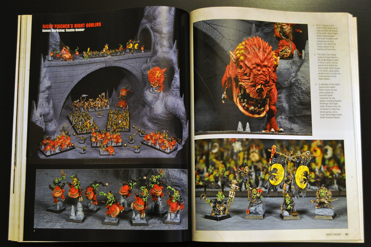 White Dwarf January 2014 Ricky Fischer's Night Goblins part 1 of 2