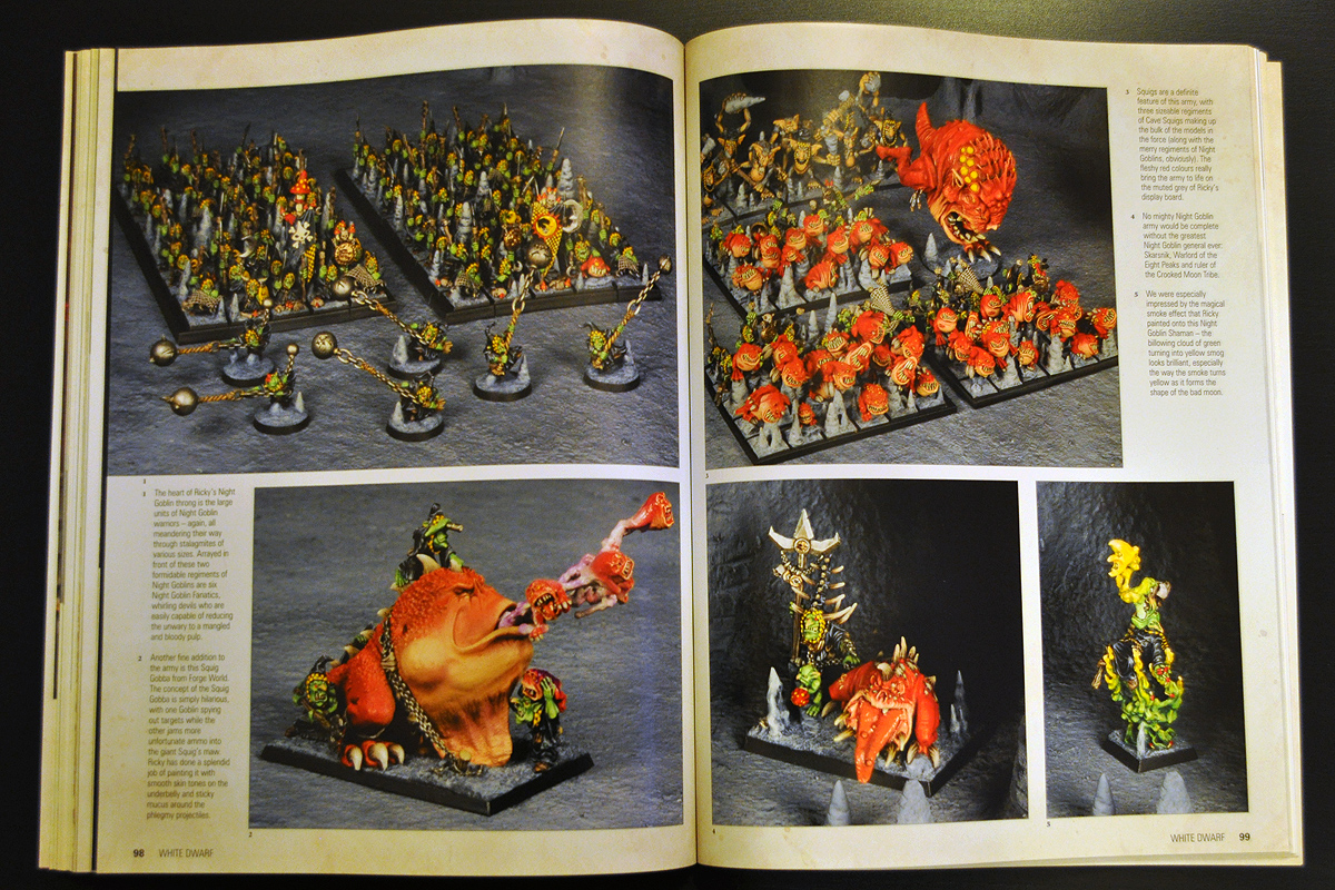 White Dwarf January 2014 Ricky Fischer's Night Goblins part 2 of 2