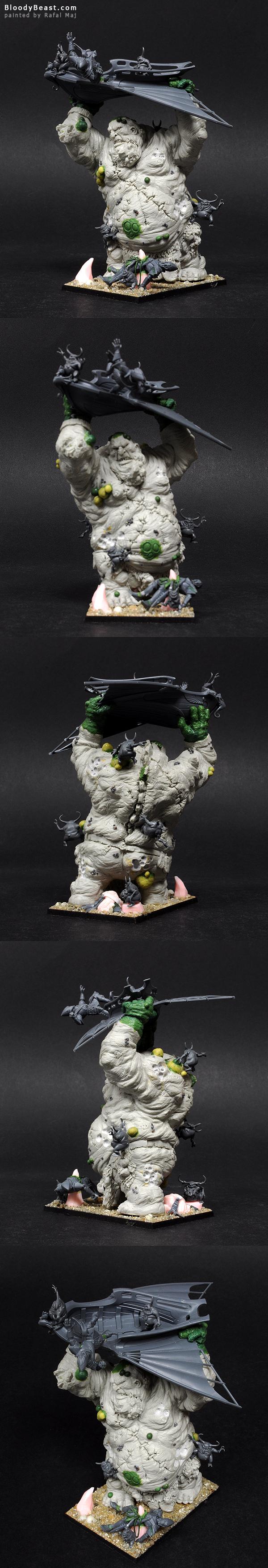 Scibor's Stone Giant as Nurgle Giant WIP by Rafal Maj (BloodyBeast.com)
