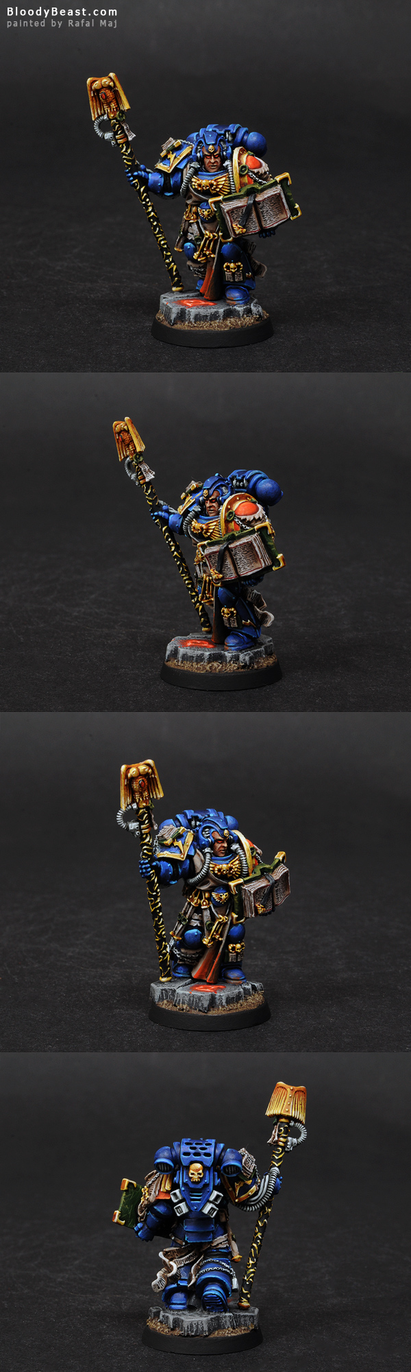 Painting Space Marines Librarian Tutorial (Finished Model)