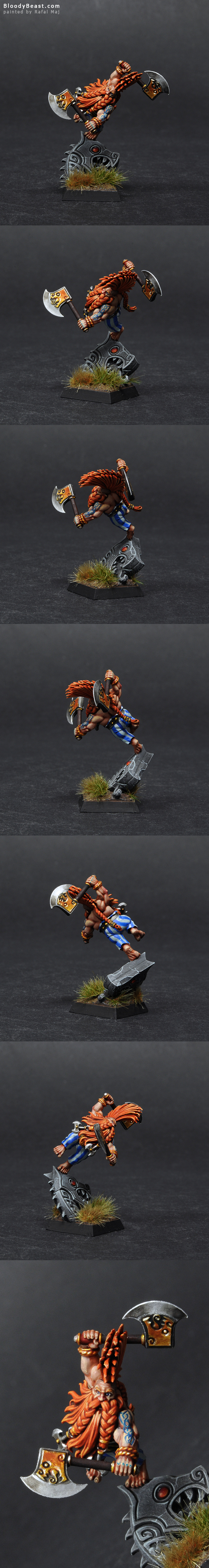 Dwarf Dragon Slayer painted by Rafal Maj (BloodyBeast.com)