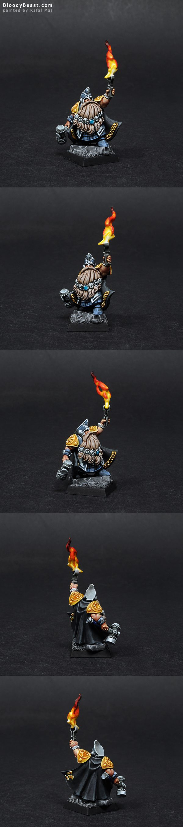 Dwarf Runelord painted by Rafal Maj (BloodyBeast.com)