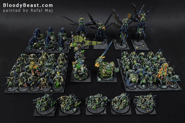 Chaos Daemons of Nurgle Army painted by Rafal Maj (BloodyBeast.com)