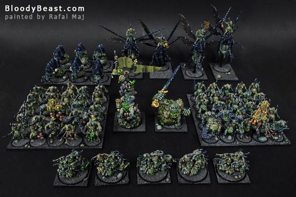 Chaos Daemons of Nurgle Army painted by Rafal Maj (BloodyBeast.com)