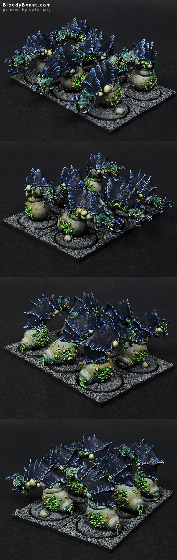Beasts of Nurgle Unit painted by Rafal Maj (BloodyBeast.com)