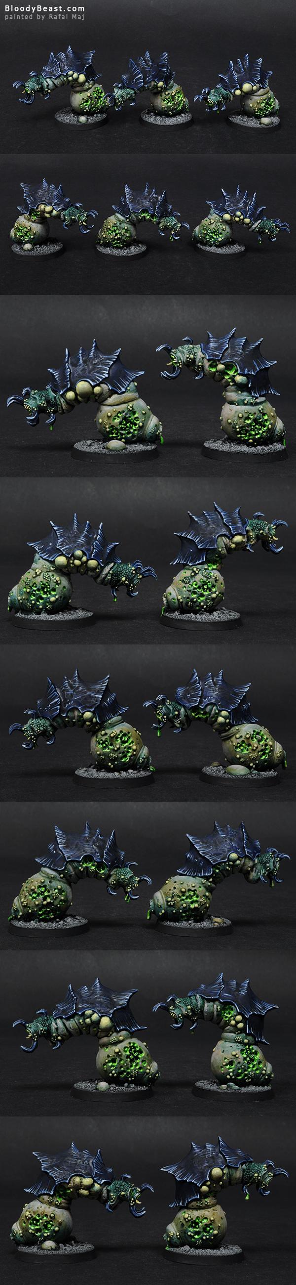 Beasts of Nurgle painted by Rafal Maj (BloodyBeast.com)