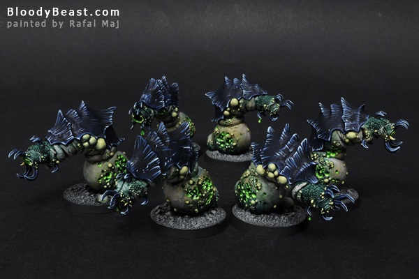 Beasts of Nurgle Squad painted by Rafal Maj (BloodyBeast.com)
