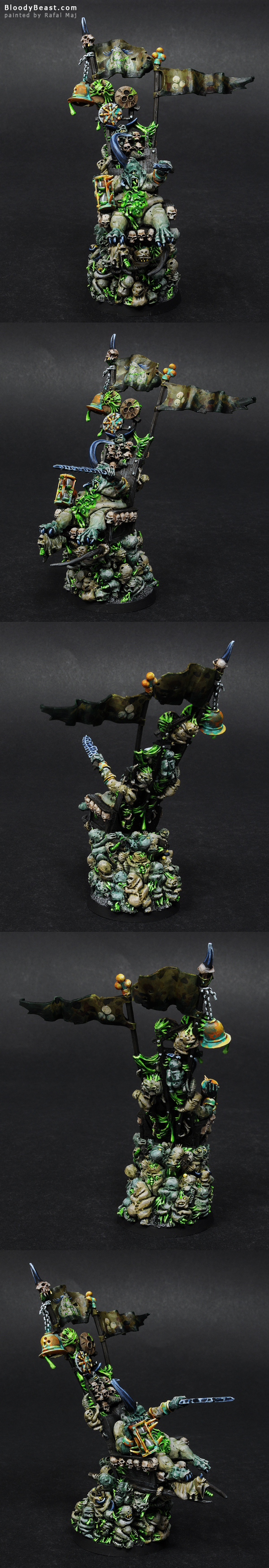 Epidemius the Tallyman of Nurgle painted by Rafal Maj (BloodyBeast.com)