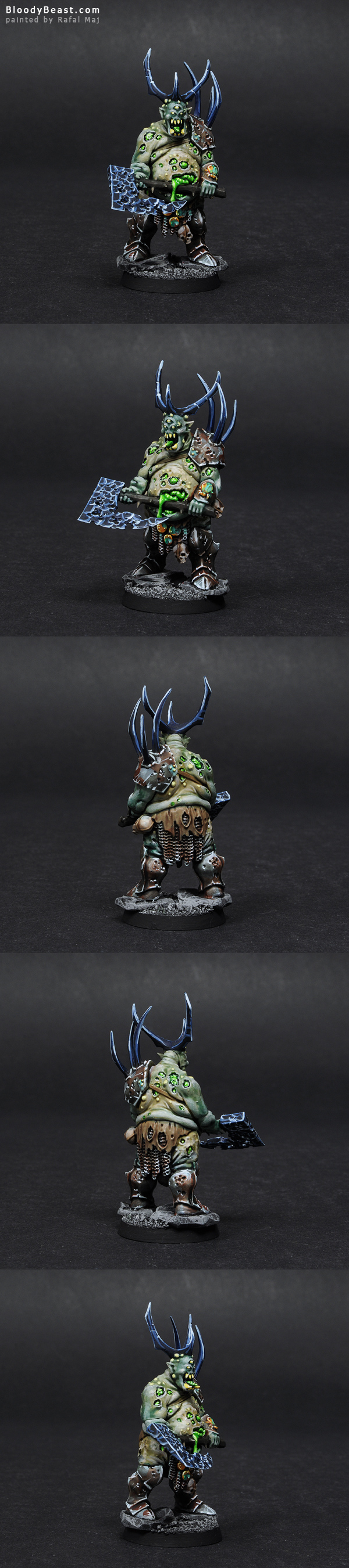 Herald of Nurgle converted and painted by Rafal Maj (BloodyBeast.com)