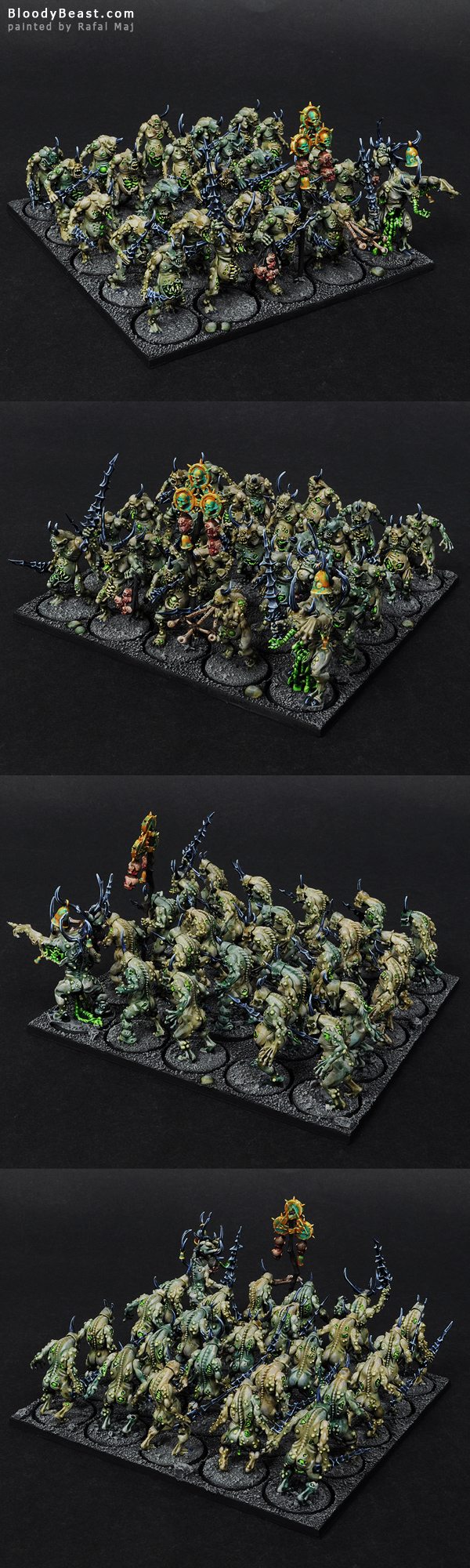 Plaguebearers of Nurgle painted by Rafal Maj (BloodyBeast.com)