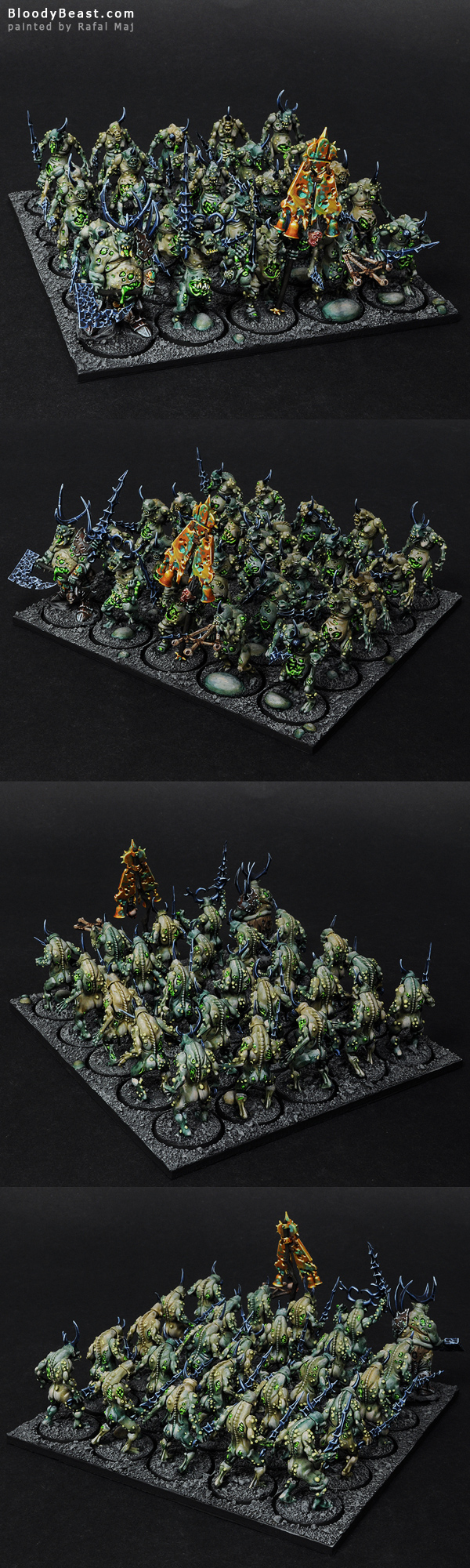 Plaguebearers of Nurgle painted by Rafal Maj (BloodyBeast.com)