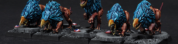 Chaos Warhounds of Tzeentch