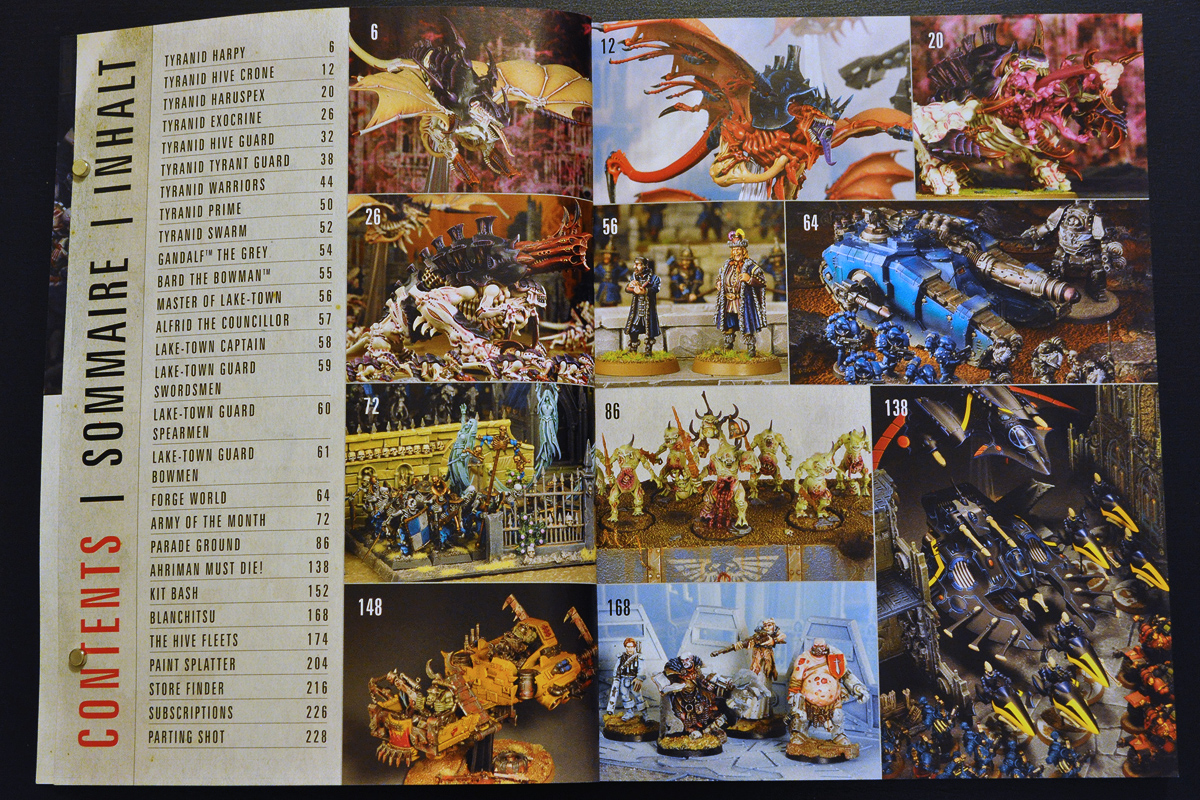 Warhammer Visions February 2014 Contents