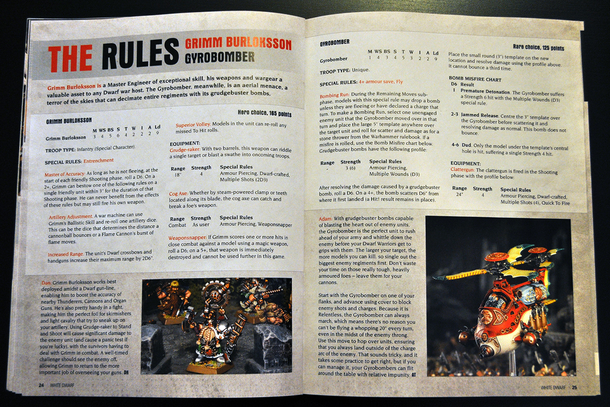 White Dwarf Ferbruary 2014 Week 2 Gyrobomber Rules