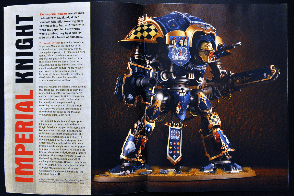 White Dwarf Ferbruary 2014 Week 4 Imperial Knight (part 1 of 4)