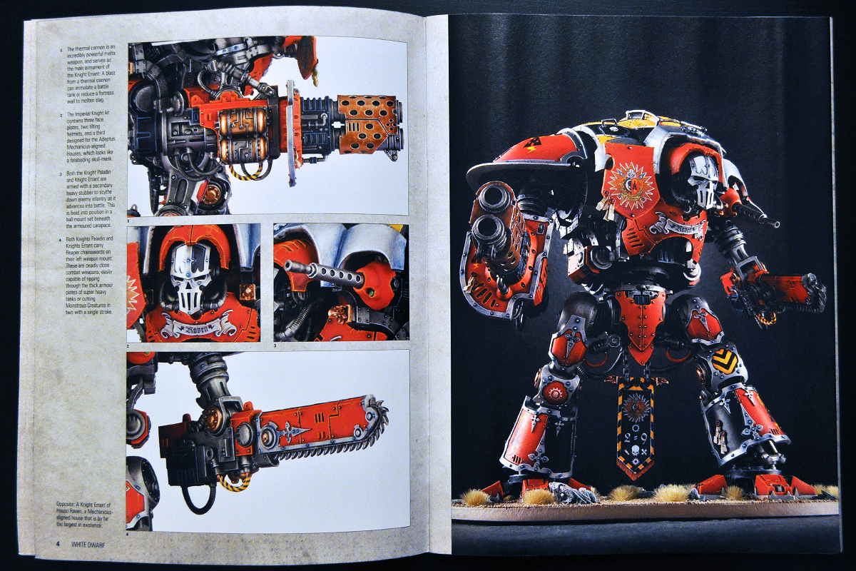 White Dwarf Ferbruary 2014 Week 4 Imperial Knight (part 2 of 4)