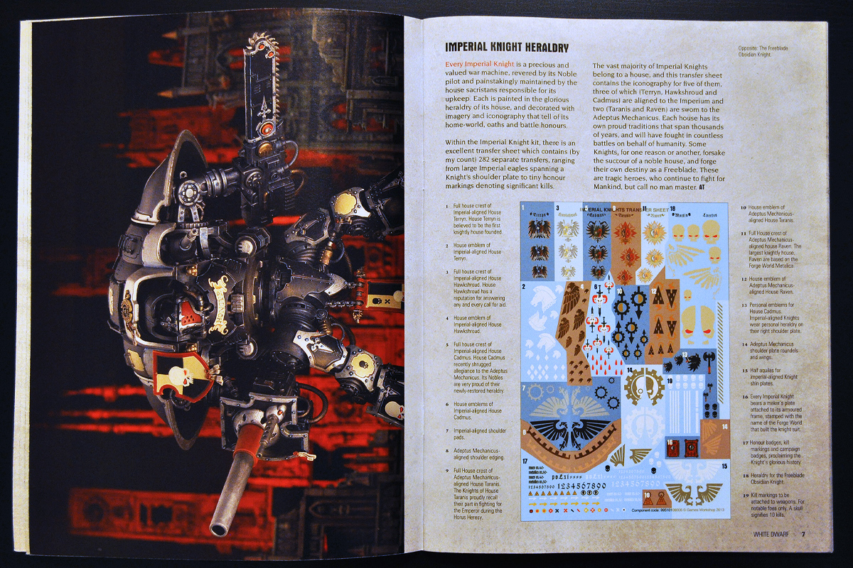 White Dwarf Ferbruary 2014 Week 4 Imperial Knight (part 3 of 4)