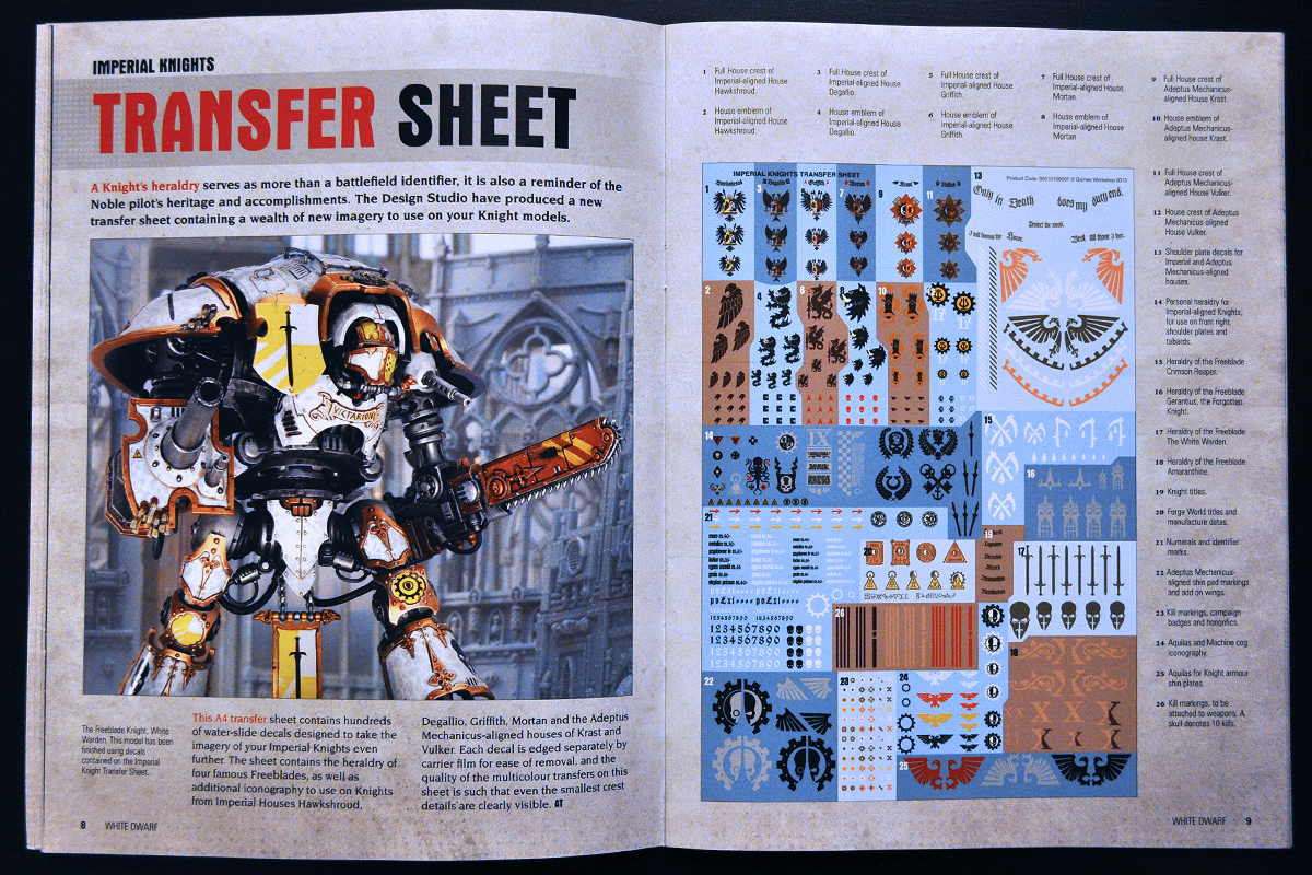 White Dwarf Ferbruary 2014 Week 4 Imperial Knight (part 4 of 4)