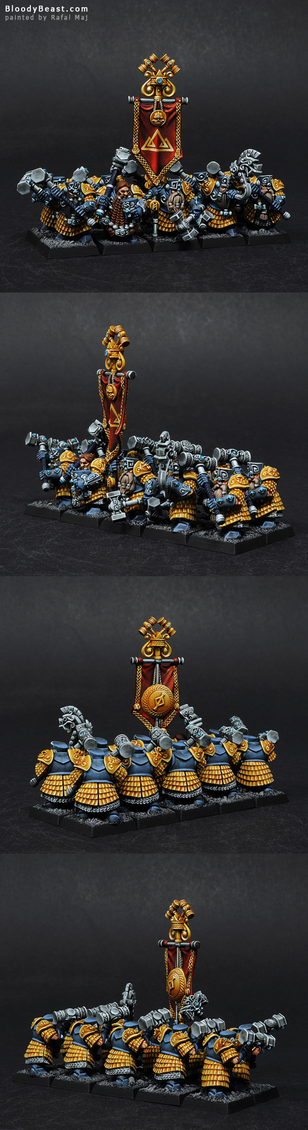 Dwarf Hammerers painted by Rafal Maj (BloodyBeast.com)