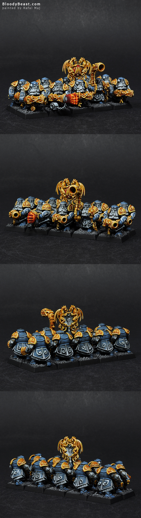Dwarf Irondrakes painted by Rafal Maj (BloodyBeast.com)