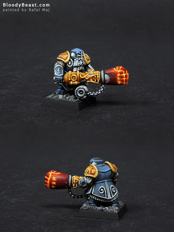 Dwarf Ironwarden with Trollhammer Torpedo painted by Rafal Maj (BloodyBeast.com)