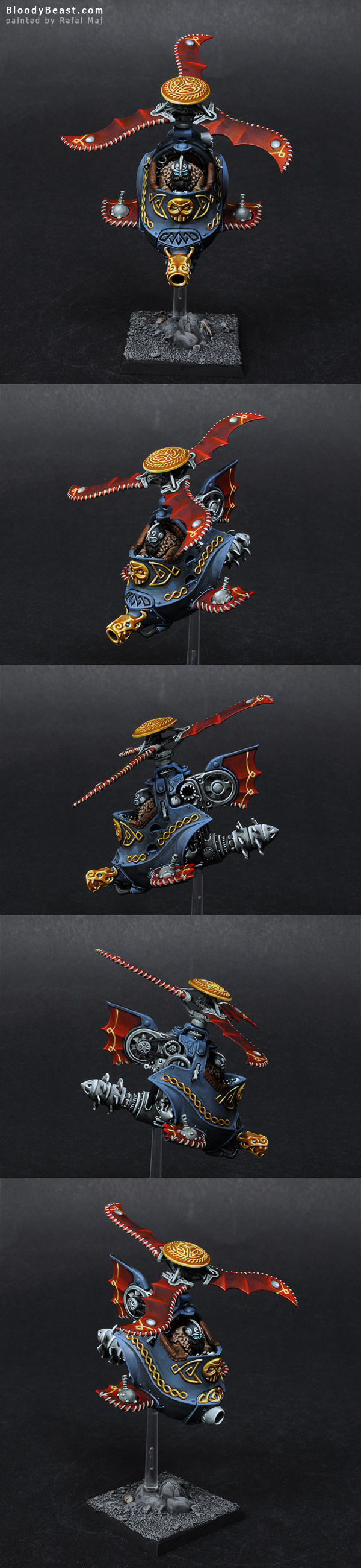 Dwarf Gyrocopter painted by Rafal Maj (BloodyBeast.com)