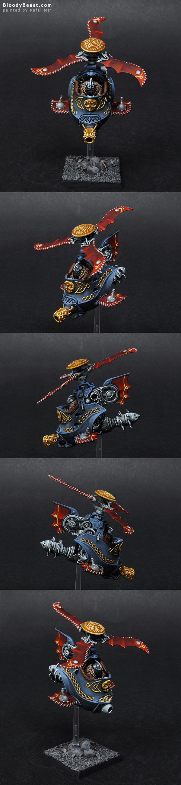 Dwarf Gyrocopter painted by Rafal Maj (BloodyBeast.com)