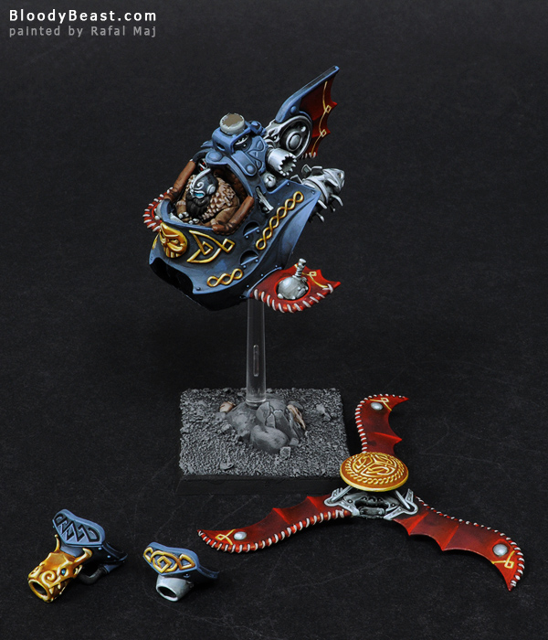 Dwarf Gyrocopter Magnetized Parts painted by Rafal Maj (BloodyBeast.com)