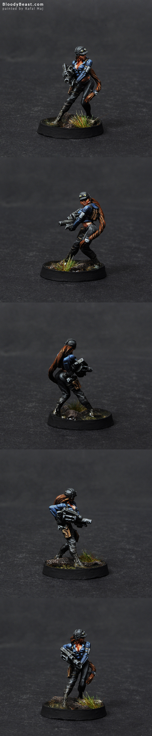 Ariadna Chasseurs Adhesive Launcher painted by Rafal Maj (BloodyBeast.com)