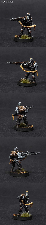 Ariadna Intel Spec-Op HMG painted by Rafal Maj (BloodyBeast.com)