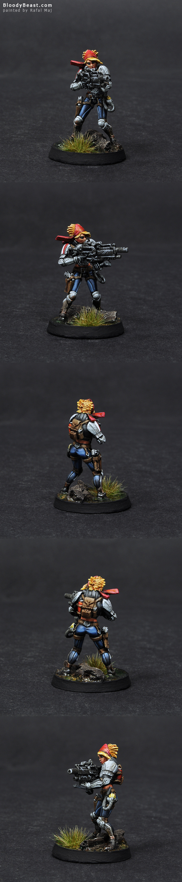 Ariadna Lieutenant Margot Berthier painted by Rafal Maj (BloodyBeast.com)