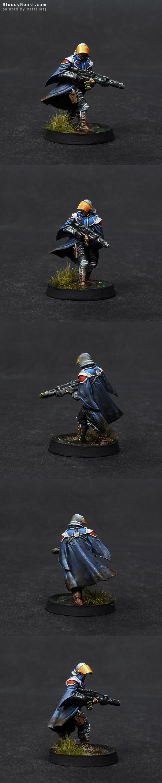 Ariadna Loup-Garous with Viral Rifle painted by Rafal Maj (BloodyBeast.com)