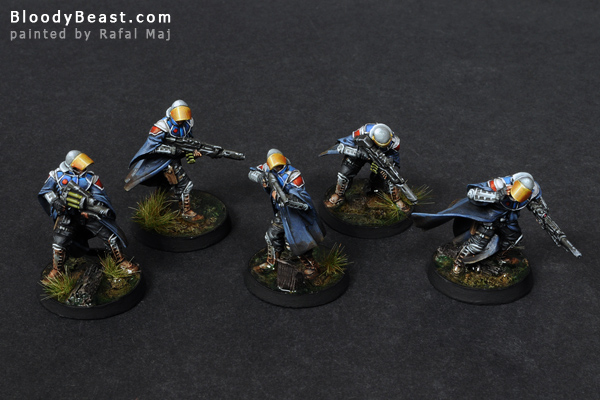 Infinity Ariadna Loup-Garous Squad painted by Rafal Maj (BloodyBeast.com)