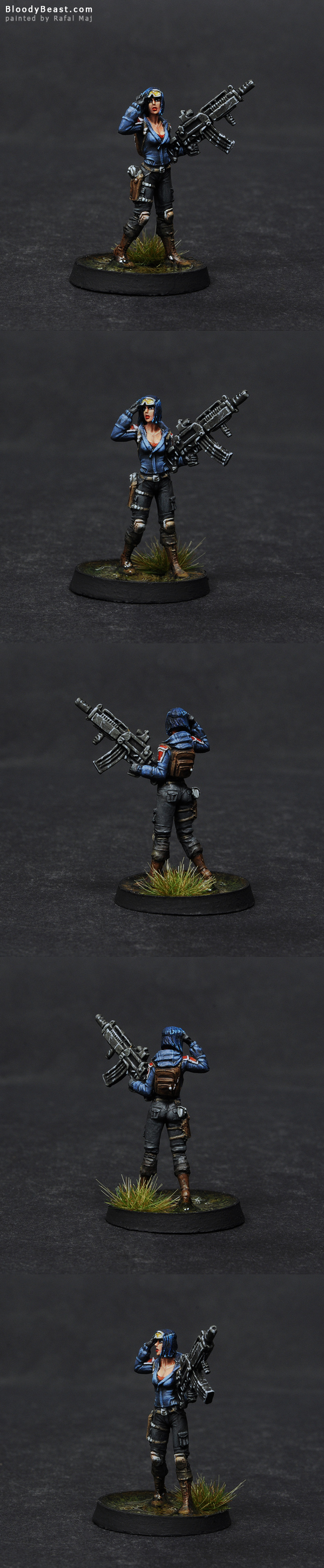 Ariadna Metros Rifle painted by Rafal Maj (BloodyBeast.com)