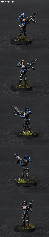 Ariadna Metros Rifle painted by Rafal Maj (BloodyBeast.com)