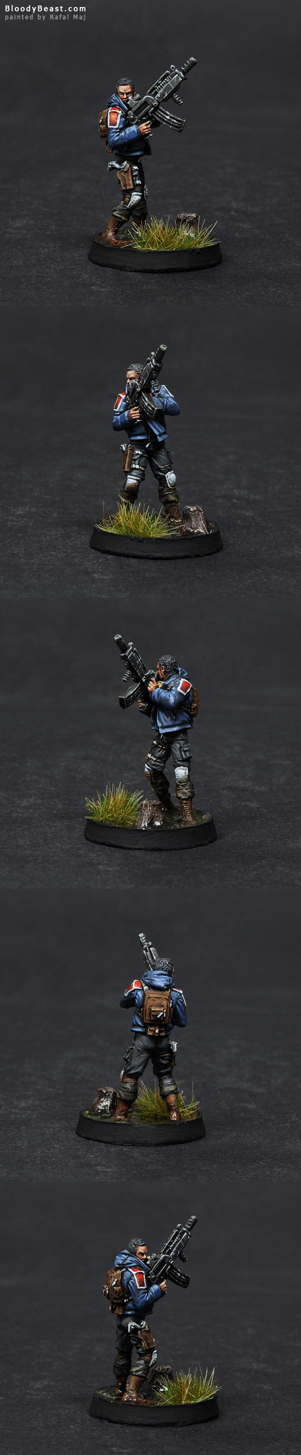 Ariadna Metros with Rifle painted by Rafal Maj (BloodyBeast.com)