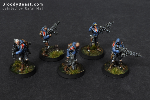 Ariadna Metros Squad painted by Rafal Maj (BloodyBeast.com)
