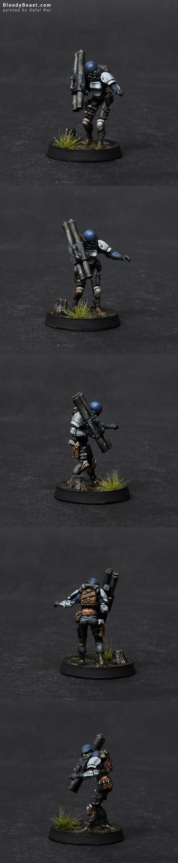 Ariadna Moblots Panzerfaust painted by Rafal Maj (BloodyBeast.com)