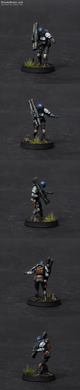 Ariadna Moblots Panzerfaust painted by Rafal Maj (BloodyBeast.com)
