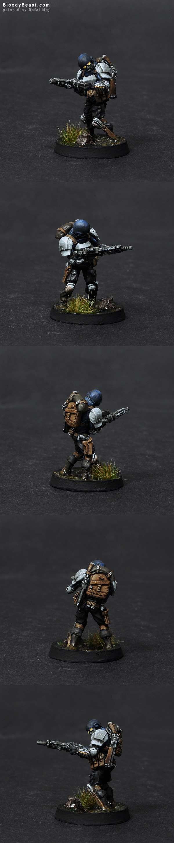 Ariadna Moblots Light Shotgun painted by Rafal Maj (BloodyBeast.com)