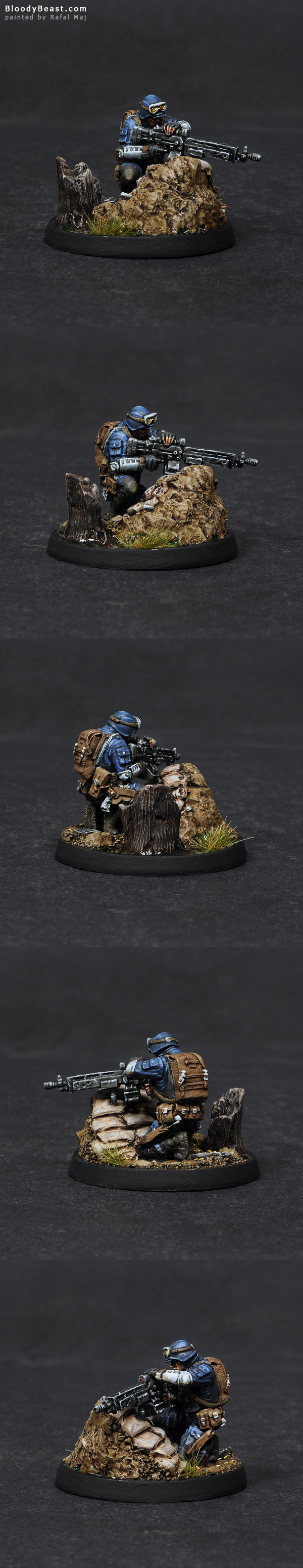Ariadna Zouaves HMG painted by Rafal Maj (BloodyBeast.com)