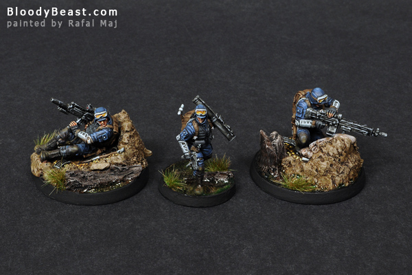 Ariadna Zouaves Squad painted by Rafal Maj (BloodyBeast.com)