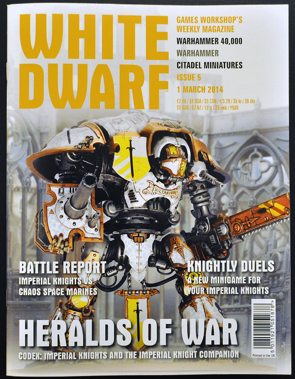 White Dwarf March 2014 Week 1 Cover