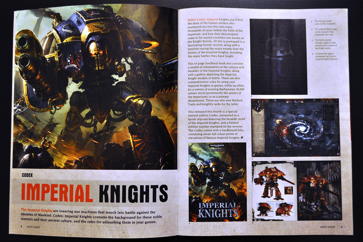 White Dwarf March 2014 Week 1 Imperial Knight (part 1 of 6)