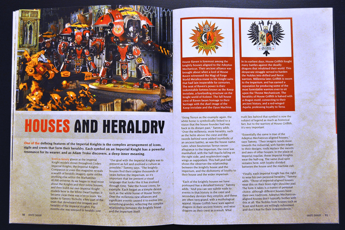 White Dwarf March 2014 Week 1 Imperial Knight (part 3 of 6)