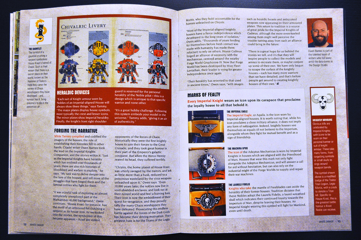 White Dwarf March 2014 Week 1 Imperial Knight (part 4 of 6)