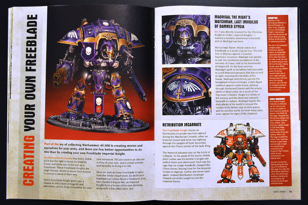 White Dwarf March 2014 Week 1 Imperial Knight (part 5 of 6)