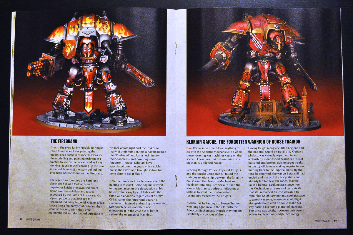 White Dwarf March 2014 Week 1 Imperial Knight (part 6 of 6)